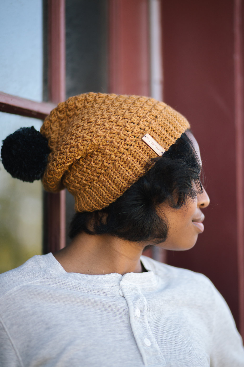 Mega Pom Beanie TL Yarn Crafts Crochet Pattern