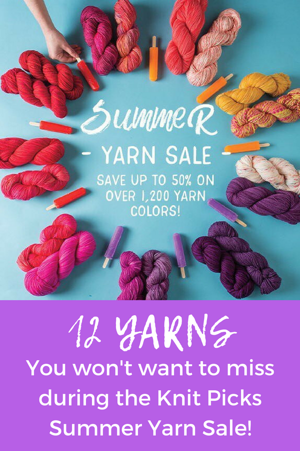 12 yarns from the knit picks summer sale. Including hundreds of colors, weights, bases, and fibers.