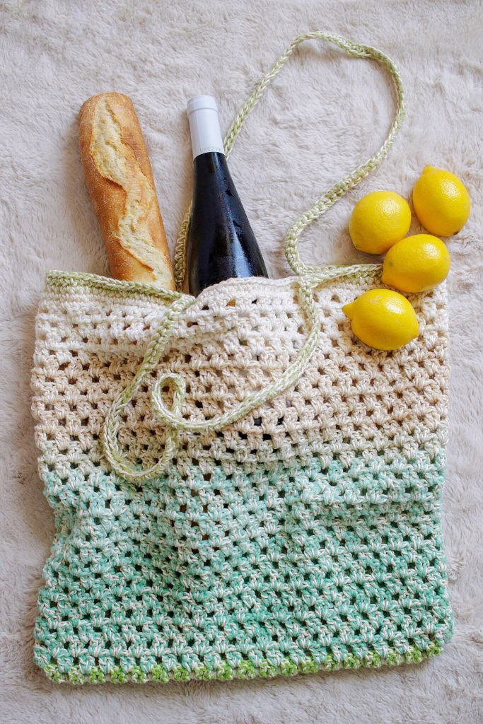 Tl Yarn Crafts Fresh Market Tote A Simple Crochet Market Bag Tl