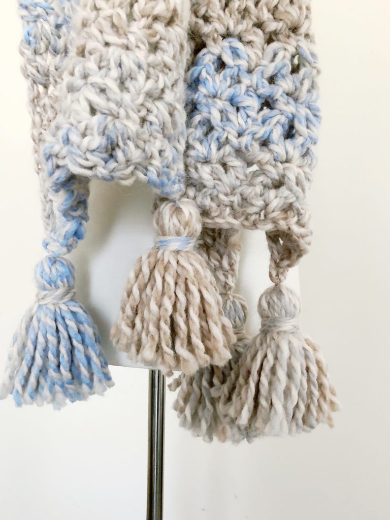 TL Yarn Crafts - The Sand Castle Tassel Scarf, a FREE Crochet Tassel ...