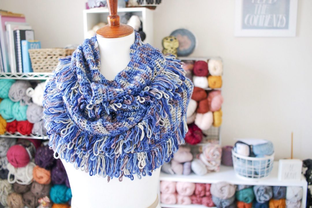 Tl Yarn Crafts The Cara Scarf A Loop Fringe Merino Wool Wrap