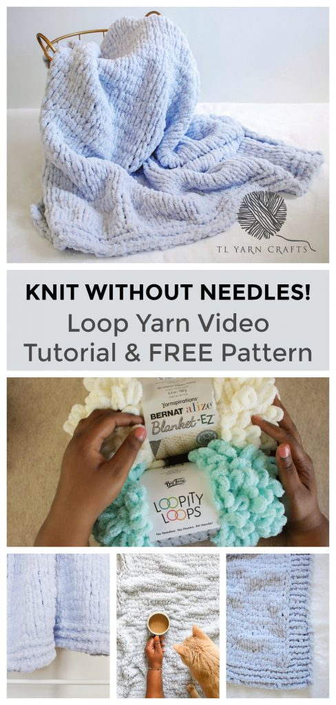 Have you tried knitting without needles? I have loop yarns a try and was pleasantly surprised. Learn basic techniques and stitches using Loopity Loops and Blanket EZ with this quick video tutorial. Also try the new Knitflix Throw Blanket, a FREE finger knitting pattern from TL Yarn Crafts.
