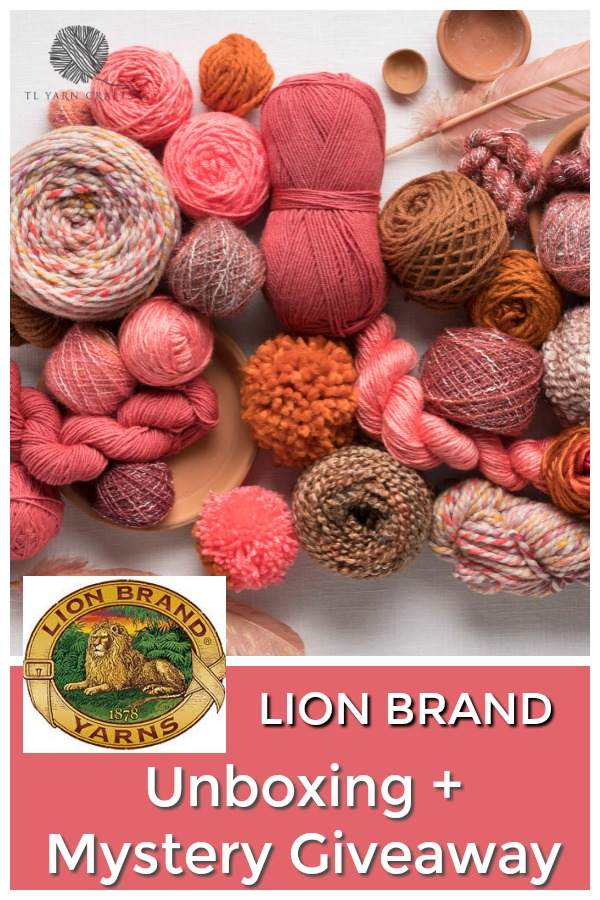 Lion Brand Fall Yarn Unboxing and Giveaway from TL Yarn Crafts - Enter to win a mystery box of Lion Brand's featured yarns! Entry open to US residents only and ends Wednesday, November 14th, 2018