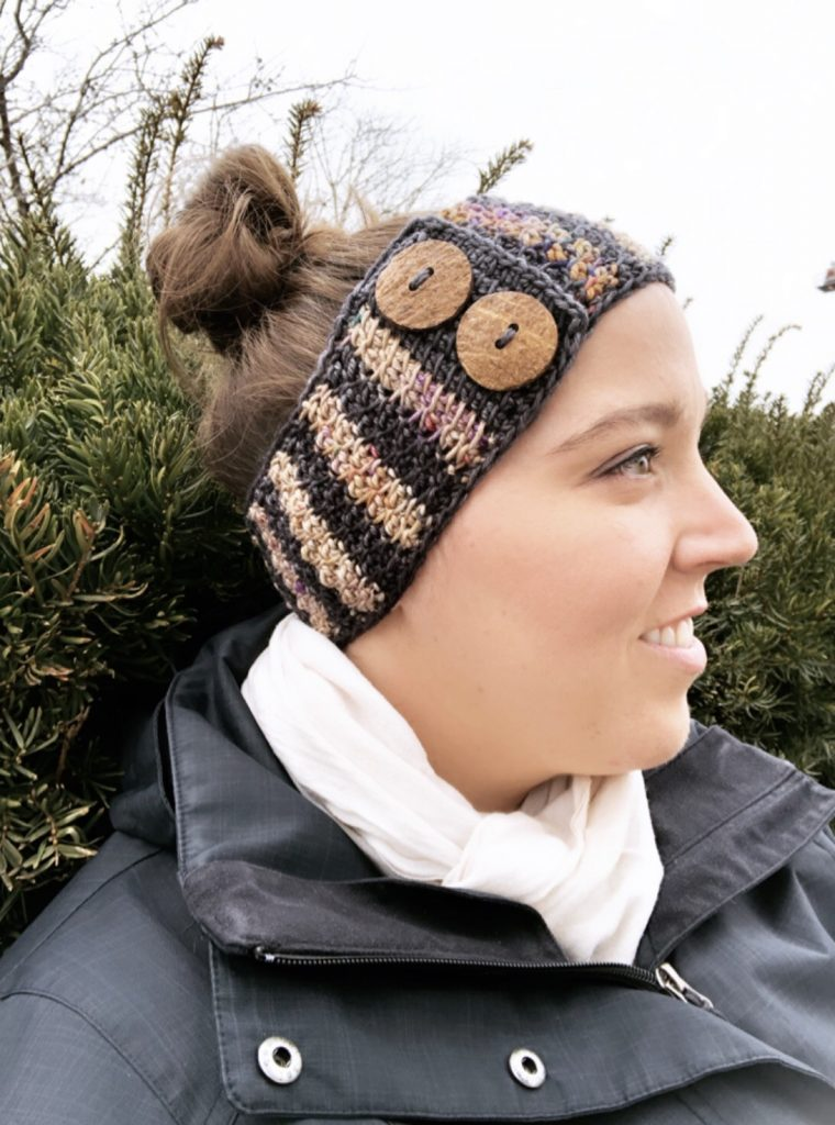 Take your Tunisian crochet skills to the next level! Try the beginner friendly Honeycomb Tunisian Ear Warmer, a cozy crochet headband with faux button closure. Pattern includes a step-by-step video tutorial. Use your stash yarn and make this project in worsted, aran, or bulky weight yarn. | TLYCBlog.com