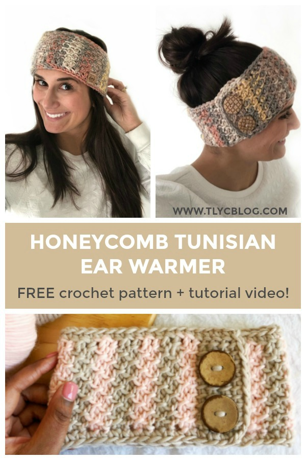 Tl Yarn Crafts Honeycomb Tunisian Ear Warmer A Warm Crochet